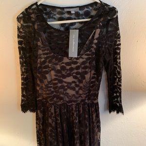 Black lace detail Macy's Dress